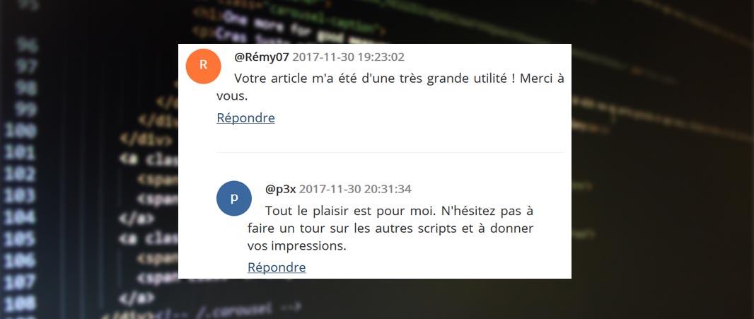 Fonction commentaire PHP : Ajoutez des commentaires à vos articles