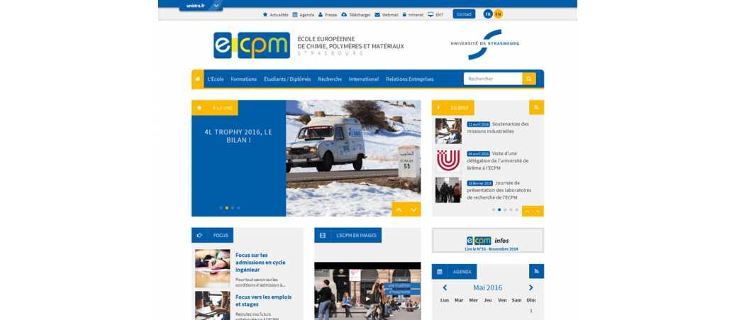 Ecpm – Ecole Europeenne de Chimie Polymeres et Materiaux