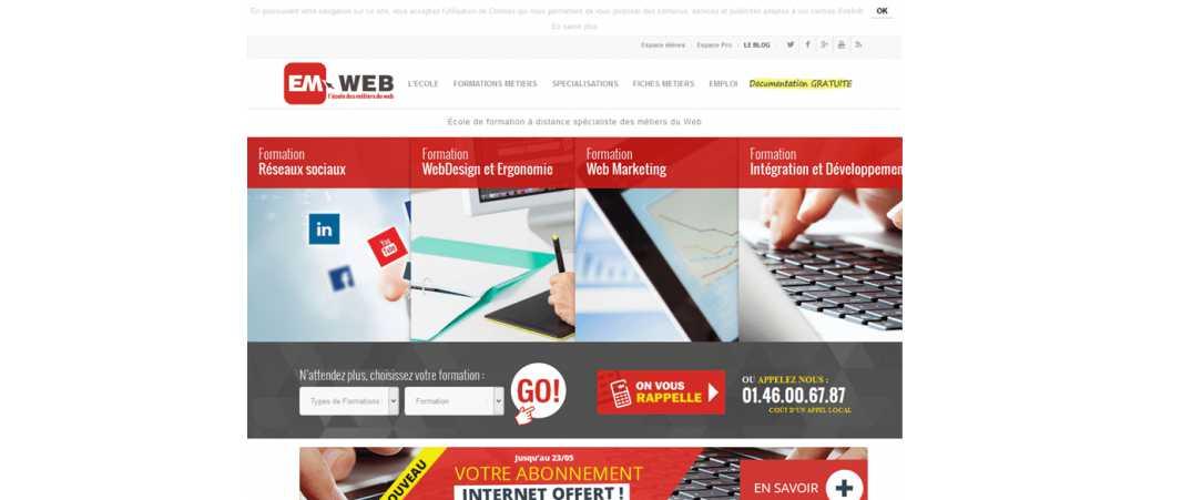 Em Web – Ecole des Métiers du Web