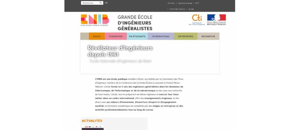 Enib – Eni Brest – Ecole Nationale d'Ingénieurs de Brest
