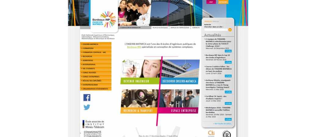 Enseirb Matmeca – Ecole Nationale Supérieure d'Electronique Informatique et Radiocommunications de Bordeaux
