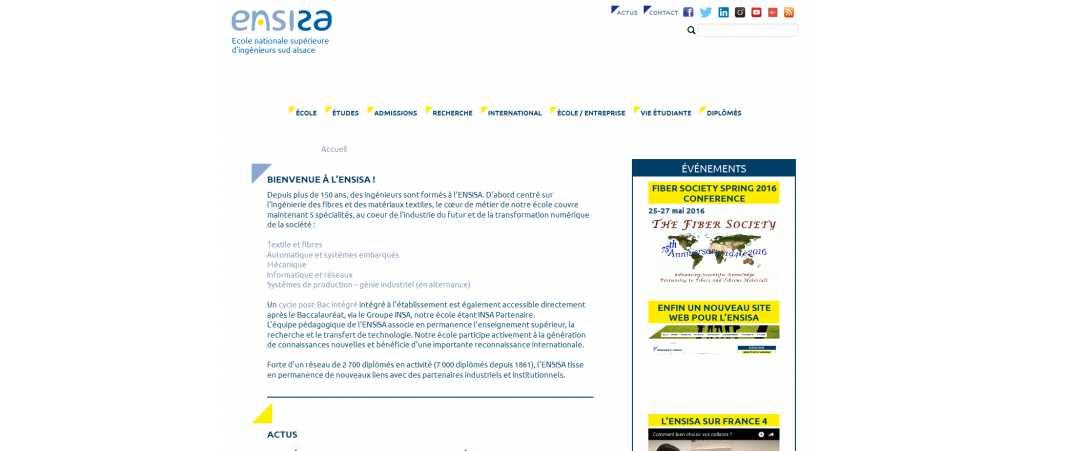 Ensisa – Ecole Nationale Supérieure d'Ingénieurs Sud Alsace