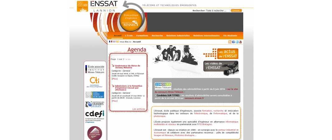 Enssat – Ecole Nationale Supérieure des Sciences Appliquees et de Technologies