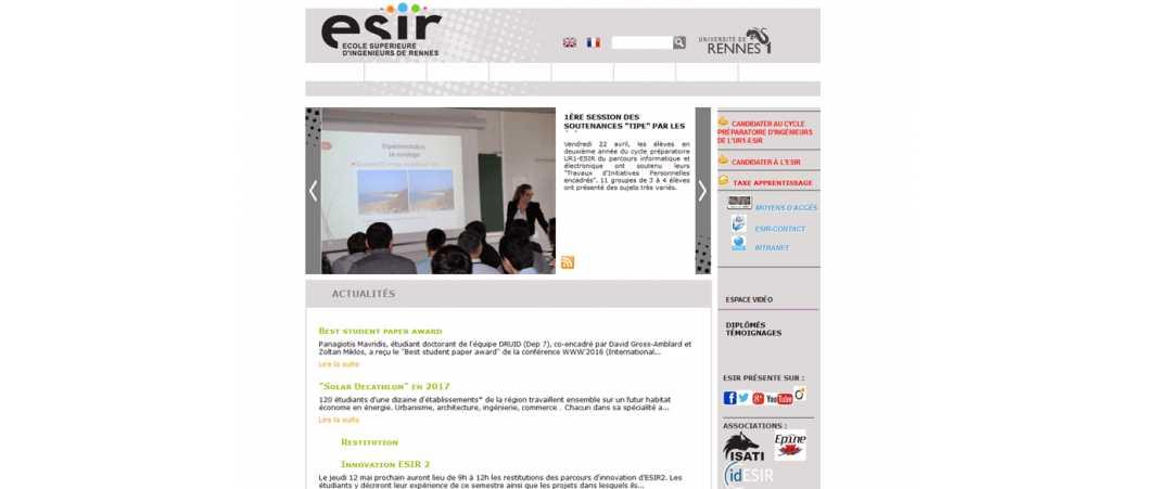 Esir – Ecole Supérieure d'Ingénieurs de Rennes