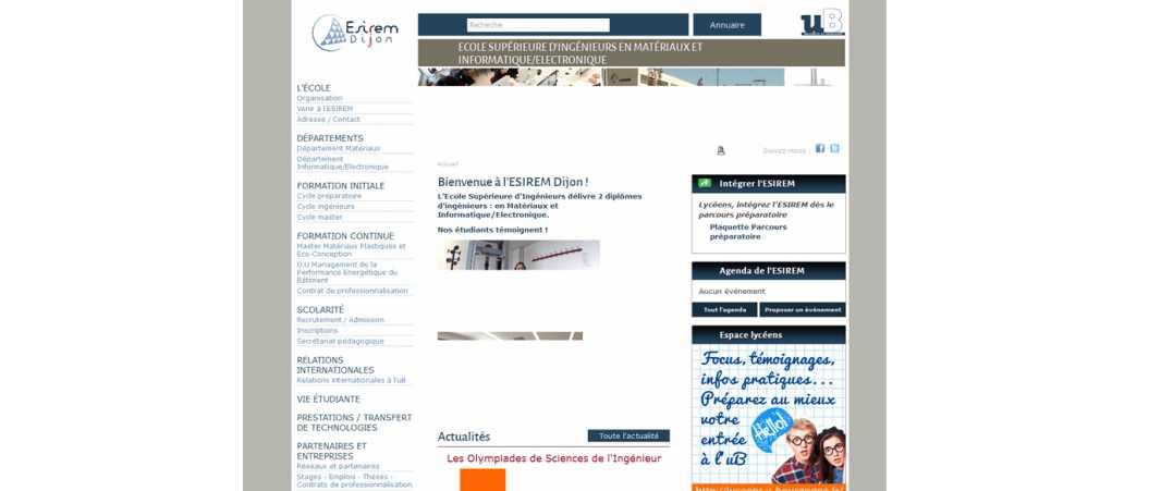 Esirem – Ecole Supérieure d'Ingénieurs de Recherche en Materiaux