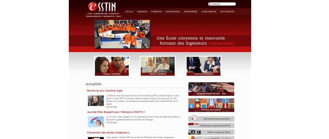 Esstin – Ecole Supérieure des Sciences et Technologies de l'Ingénieur de Nancy