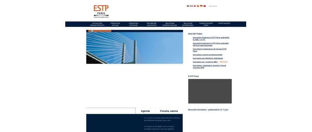 Estp – Ecole Speciale des Travaux Publics Cachan