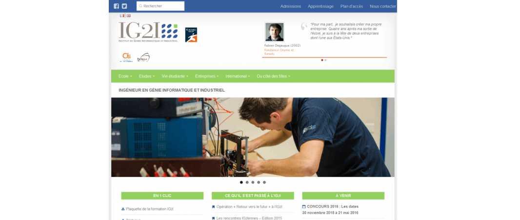 Ig2I – Institut de Genie Informatique et Industriel de Lens