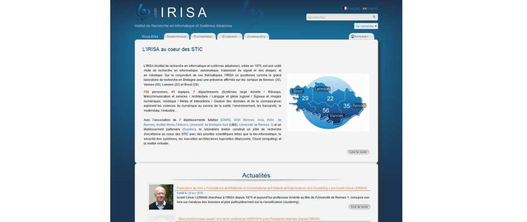 Irisa – Institut de Recherche en Informatique et Systemes Aleatoires