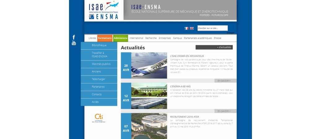 Isae-Ensma – Ecole Nationale Supérieure de Mecanique et d'Aerotechnique