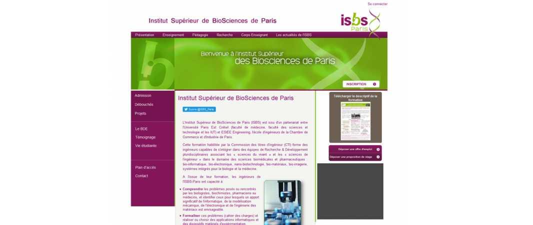 Isbs – Institut Superieur de Biosciences
