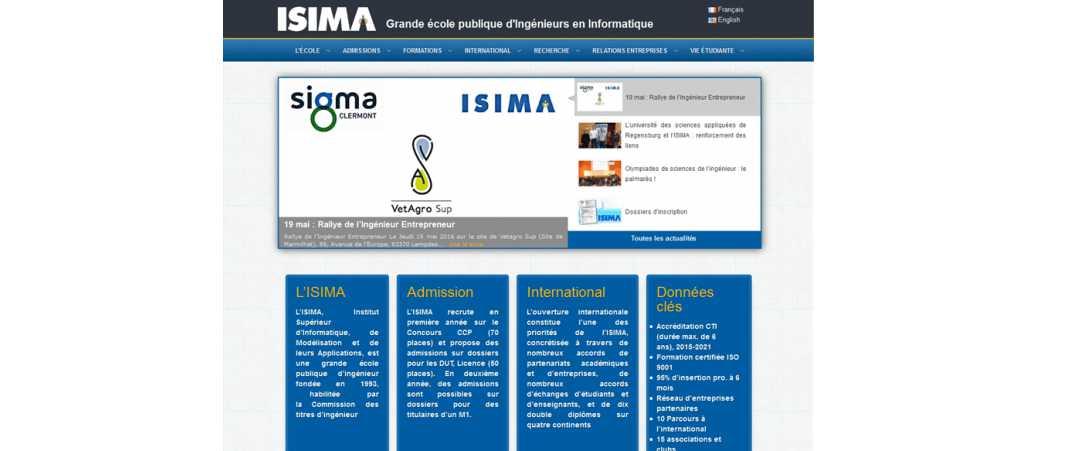 Isima – Institut Superieur d'Informatique de Modelisation et de Leurs Applications
