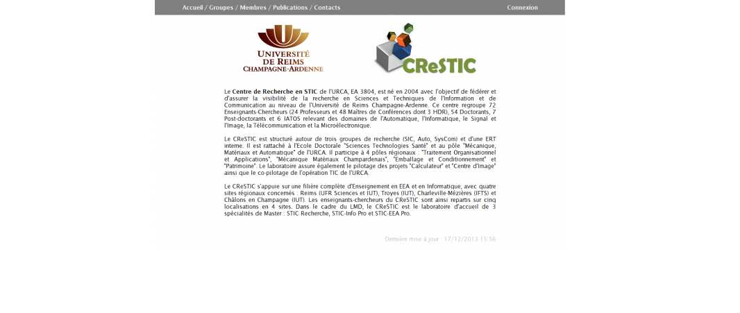 Université de Reims – Crestic