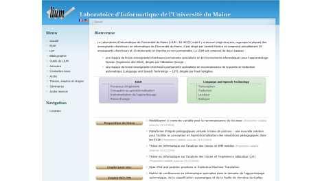 Université du Maine – Lium