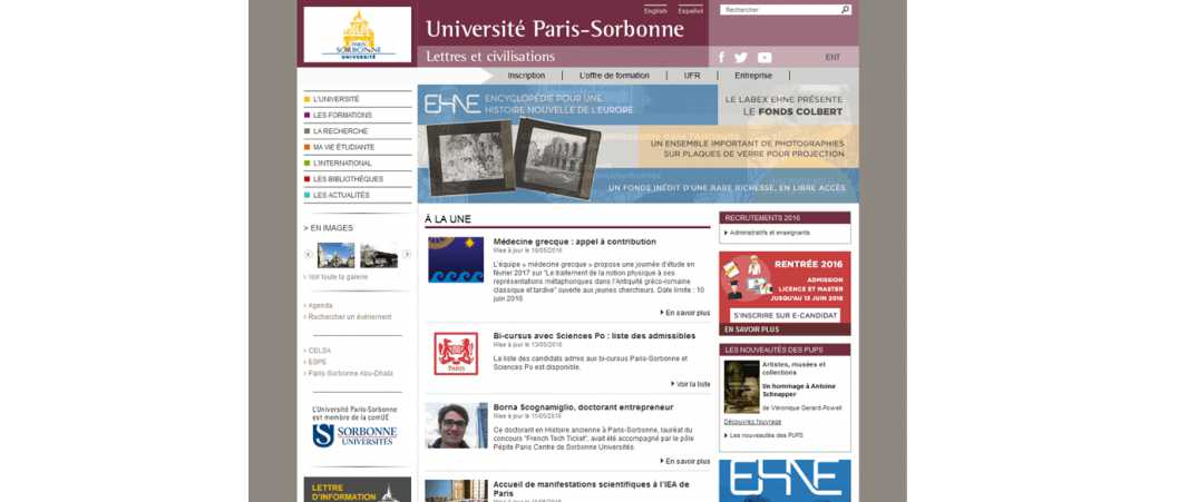 Université Paris 4 – Sorbonne