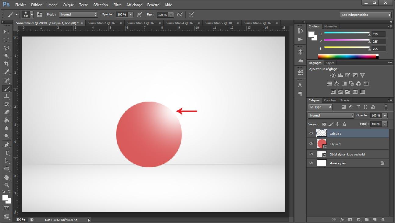Tuto photoshop sphere screen 5