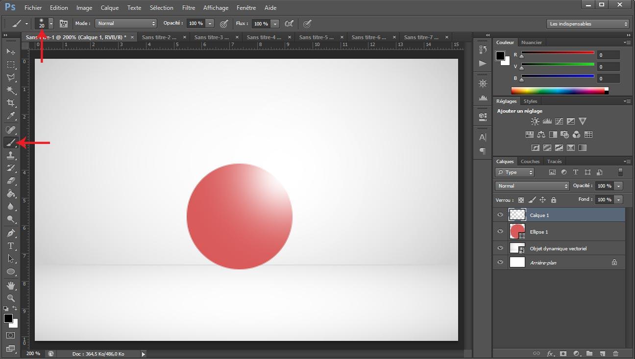 Tuto photoshop sphere screen 6