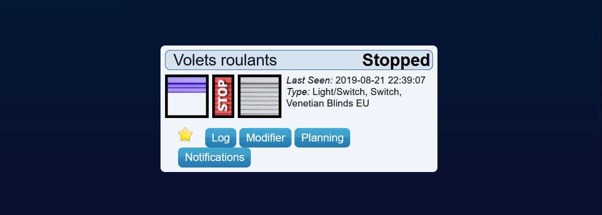 Venetian Blinds EU Domoticz