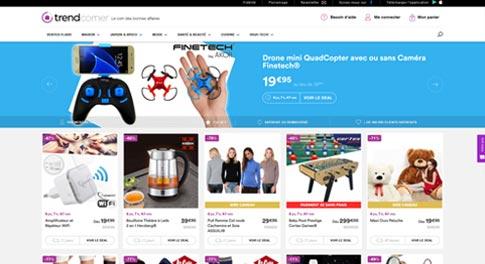 Base de données e-commerce de vente d'objets tendances