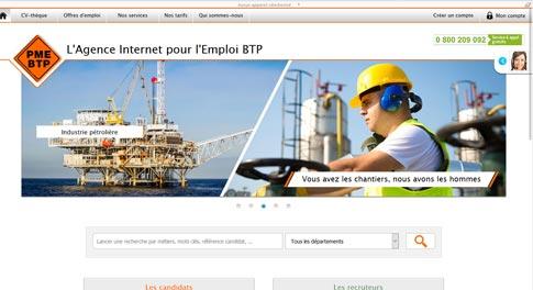 Sites satellites d'emploi BTP